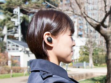 音楽を聞きながら周りの音も拾える環境音ON/OFF機能