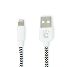 cheero Fabric braided USB cable with Lightning