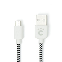Fabric braided USB cable with micro USB 50cm/100cm set