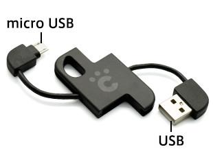 充電だけでなくデータ転送にも使えます。