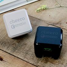 cheero USB AC Charger QC3.0 ACアダプター